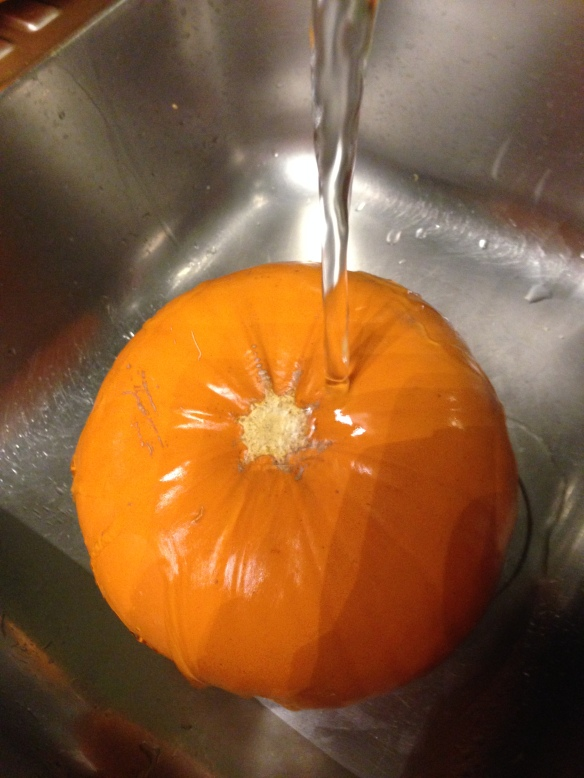 wash the pumpkin